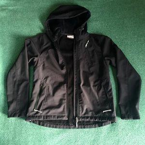Shoftshell Black Jacket Waterproof Size-S